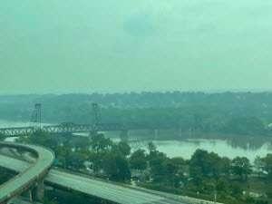 Hazy skies in Albany courtesy DEC
