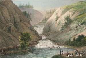 Henri Gaugain, Amerique Septentrionale - Etat de New-York No 15, pl 3 Falls of mount Ida, above the town of Troy