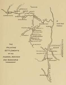 Palatine settlements showing Hoosick Road Palatines near Brunswick Rensselaer County NY