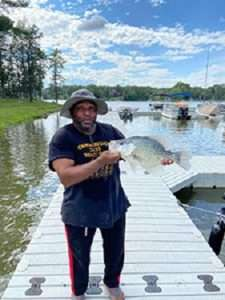 Roy Isaac with state record crappie