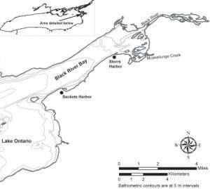 Sackets Harbor Underwater Archeology Map
