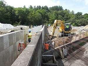 Salmon River Hatchery construction courtesy DEC