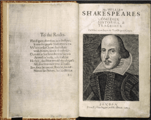 Shakespeares First Folio published in 1623