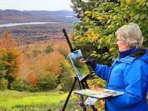 Diane Davis Plein Air Painting by Doug Davis