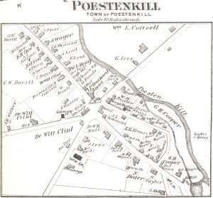 Village of Poestenkill map ca 1876