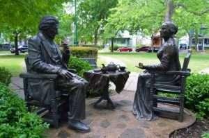 Susan B. Anthony & Frederick Douglass statues provided
