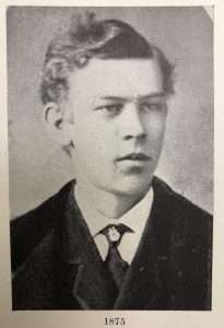 1. Picture of Frank Tweedy, courtesy of Special Collections, Schaffer Library, Union College, 1875