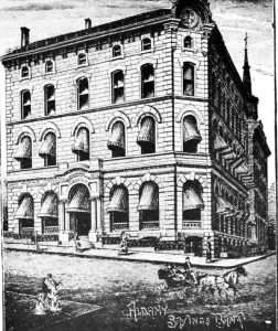 Albany Savings Bank on State Street in 1884