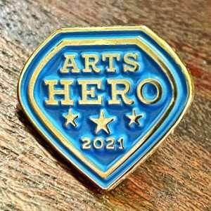 Arts Hero Pin courtesy Arts District of Glens Falls