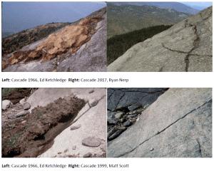 Cascade Mountain Photos Showing Overuse