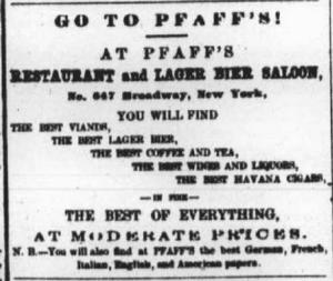 Pfaffs advertisement