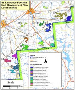 St. Lawrence Foothills Unit Map courtesy DEC