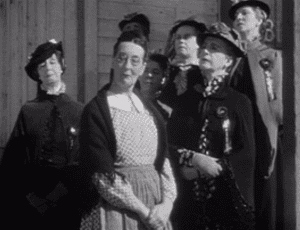 The sneering women of the Law and Order League in John Ford's 1939 film Stagecoach
