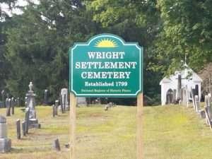 Wright Settlement Cemetery courtesy Wikimedia user Imnar13