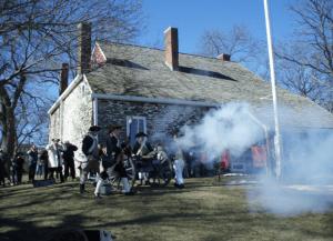 cannon firing at Washington's Headquarters