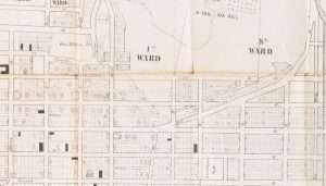 1845 Map cropped to Five Points-Liberty Square
