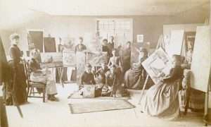 Art class at Claverack College courtesy CCHS Collection