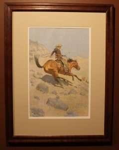 Frederic Remington Lithograph entitled The Cow-Boy