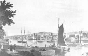 View of Troy from the Watervliet arsenal in 1838