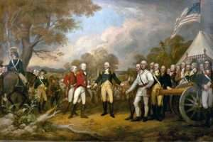 painting of George Washington during American Revolution